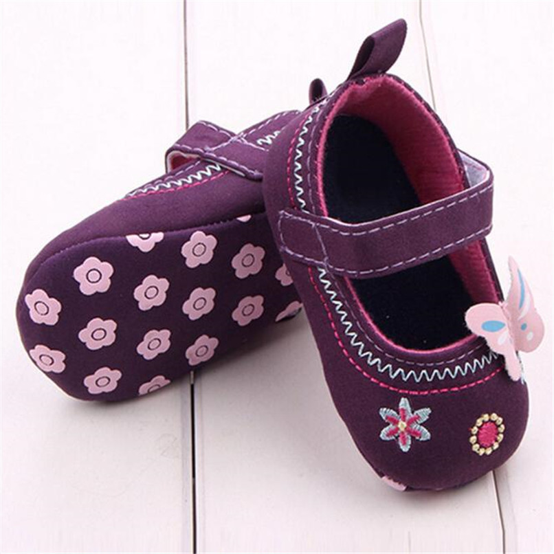 Fashion Baby Girl First Walker Butterfly Soft Sole Toddler Shoes NDA84L16 (8)