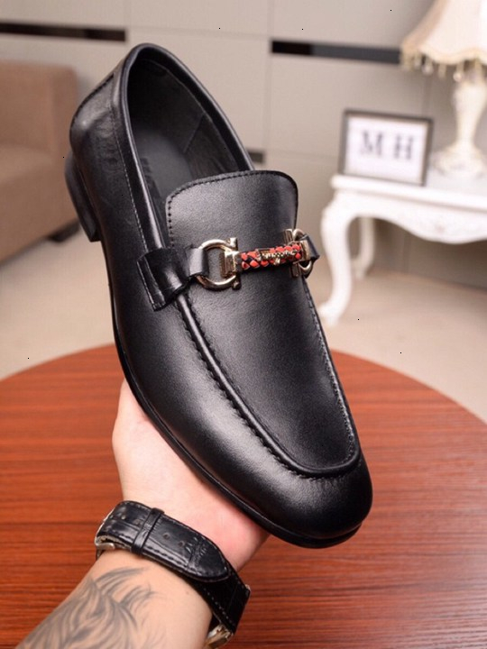 Männer Lederschuh 2019 Art und Weise reifer und einfacher Satz von Lederschuh RUE Größe 38-44 WSJ019 Textur zart Geschäft shoesx6