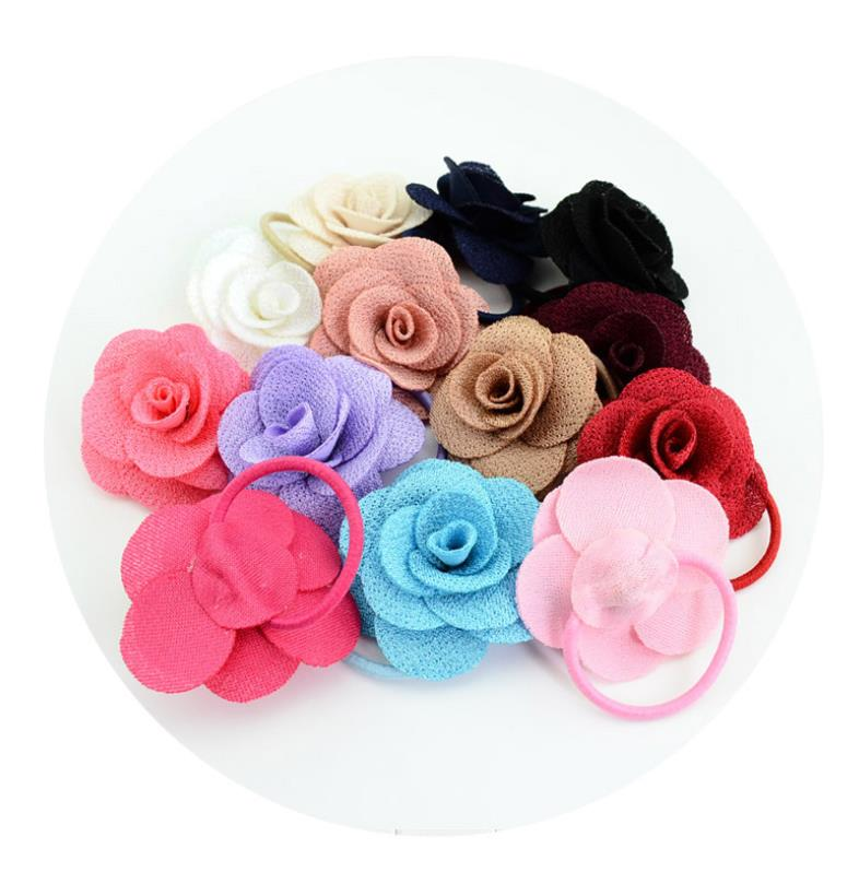 Rose Flower Head Band Headwear Säuglingsbaby scherzt Mädchen-Haar-Zusätze Neu