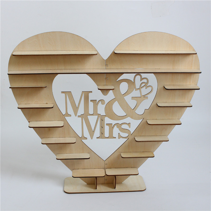 Ceremony Chocolate Display Stand Tool Wedding Wooden Heart-Shaped Holder New Hot