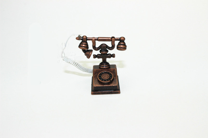 1:6 Scale Bjd Mini Home Vintage Telephone Retro Phone Dollhouse Miniature Toy Doll Food Kitchen Living Room Accessories