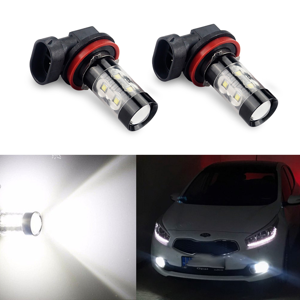 RED LED NEON WASHER JETS FOR KIA CEED CERATO PICANTO