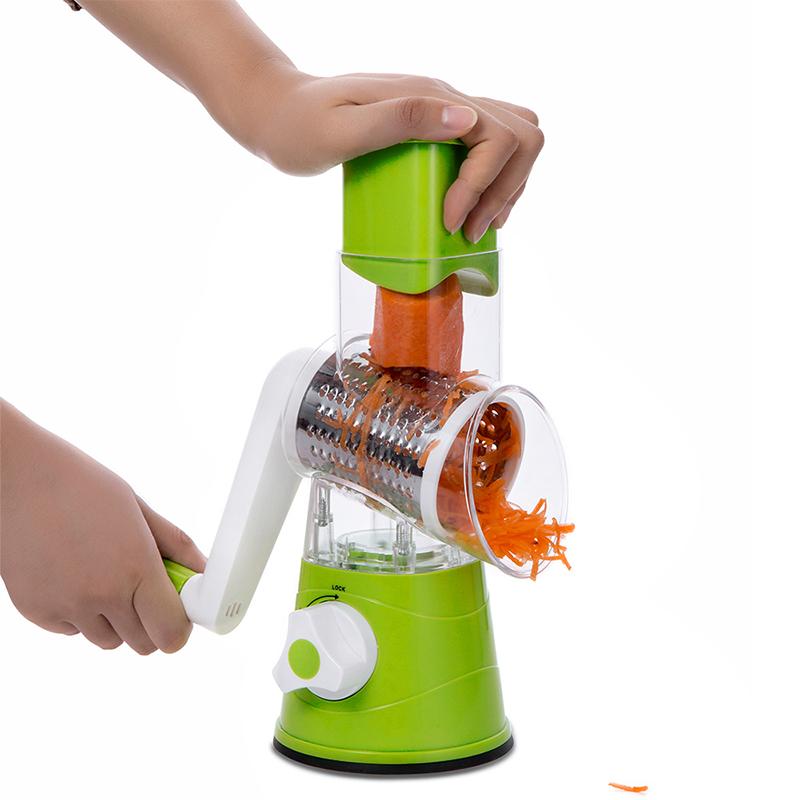 CUISHIP-Vegetable-Cutter-Round-Mandoline-Slicer-Potato-Carrot-Grater-Slicer-with-3-Stainless-Steel-Chopper-Blades