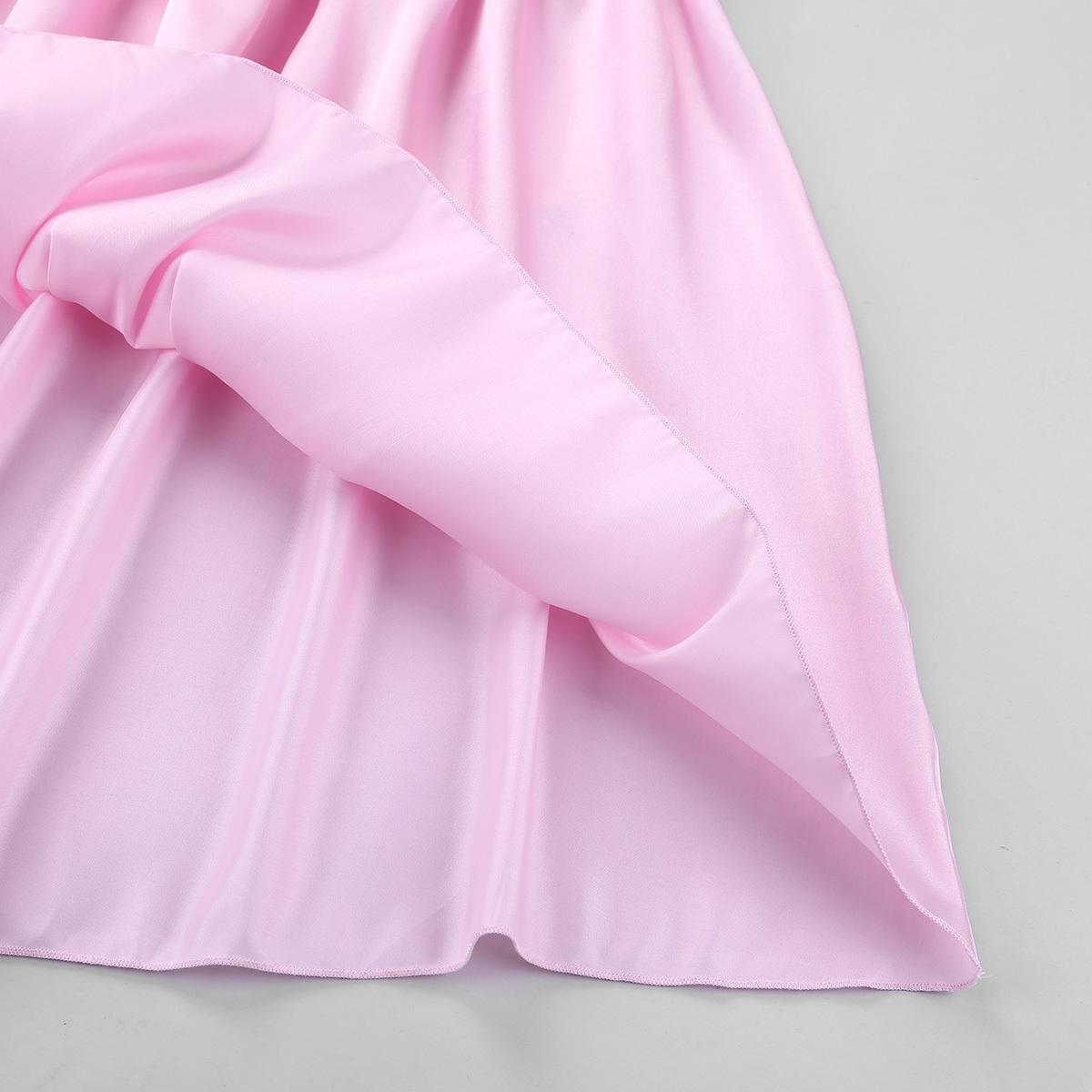 Mens breve babydolls scollo quadrato brillante raso morbido vestito dalla biancheria intima di incrocio la cravatta maschile Sissy biancheria da notte biancheria intima vestito Y19070202