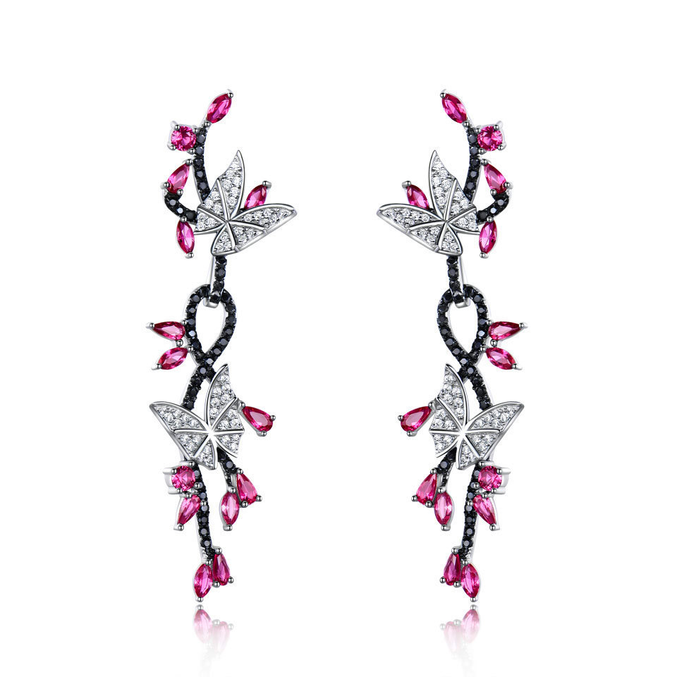 UMCHO Ruby 925 sterling silver jewelry set for women S016R-1-PC (2)