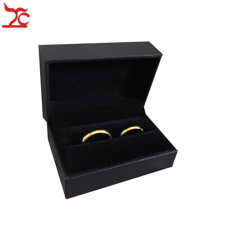 New Quality PU Leather Couple Ring Case Black Brown Engagement Wedding Ring Packaging Storage Box Earring Stud Cufflink Gift Box