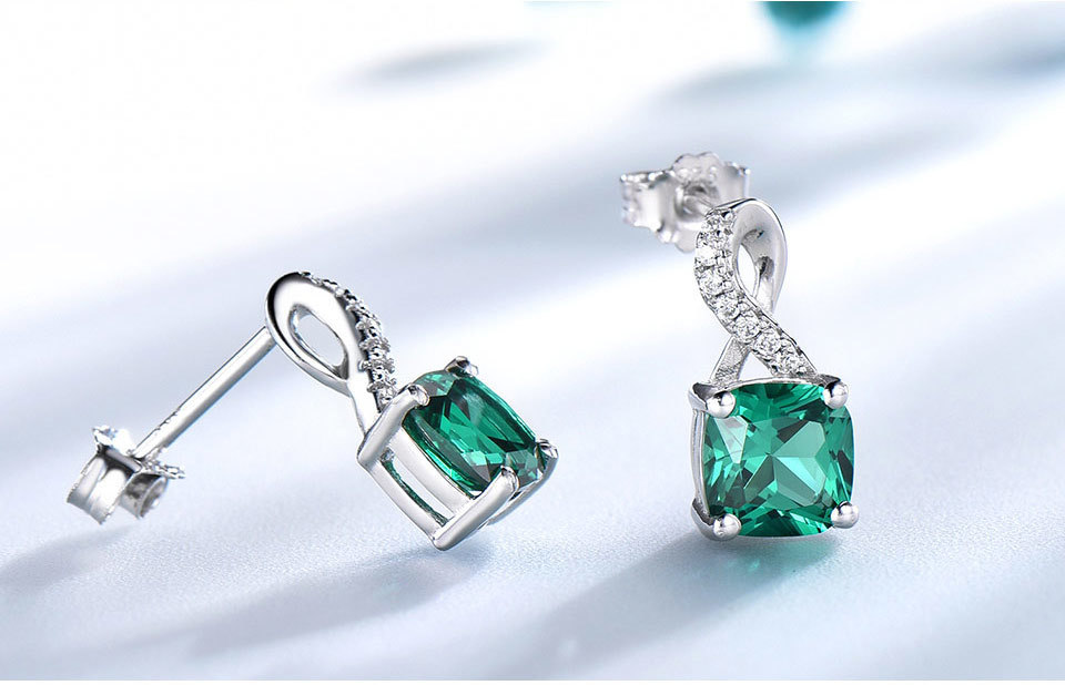 UMCHO Emerald 925 sterling silver jewelry sets for women S027E-1 pc (7)