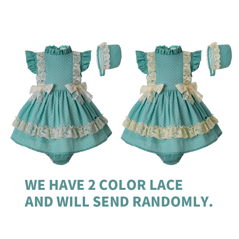 Pre-sale Summer Toddler Mint Green Clothingset Pp Pants + Pom Hat Lace Girl Double Bows Clothing Set G-dmcs201-c141 Y190522