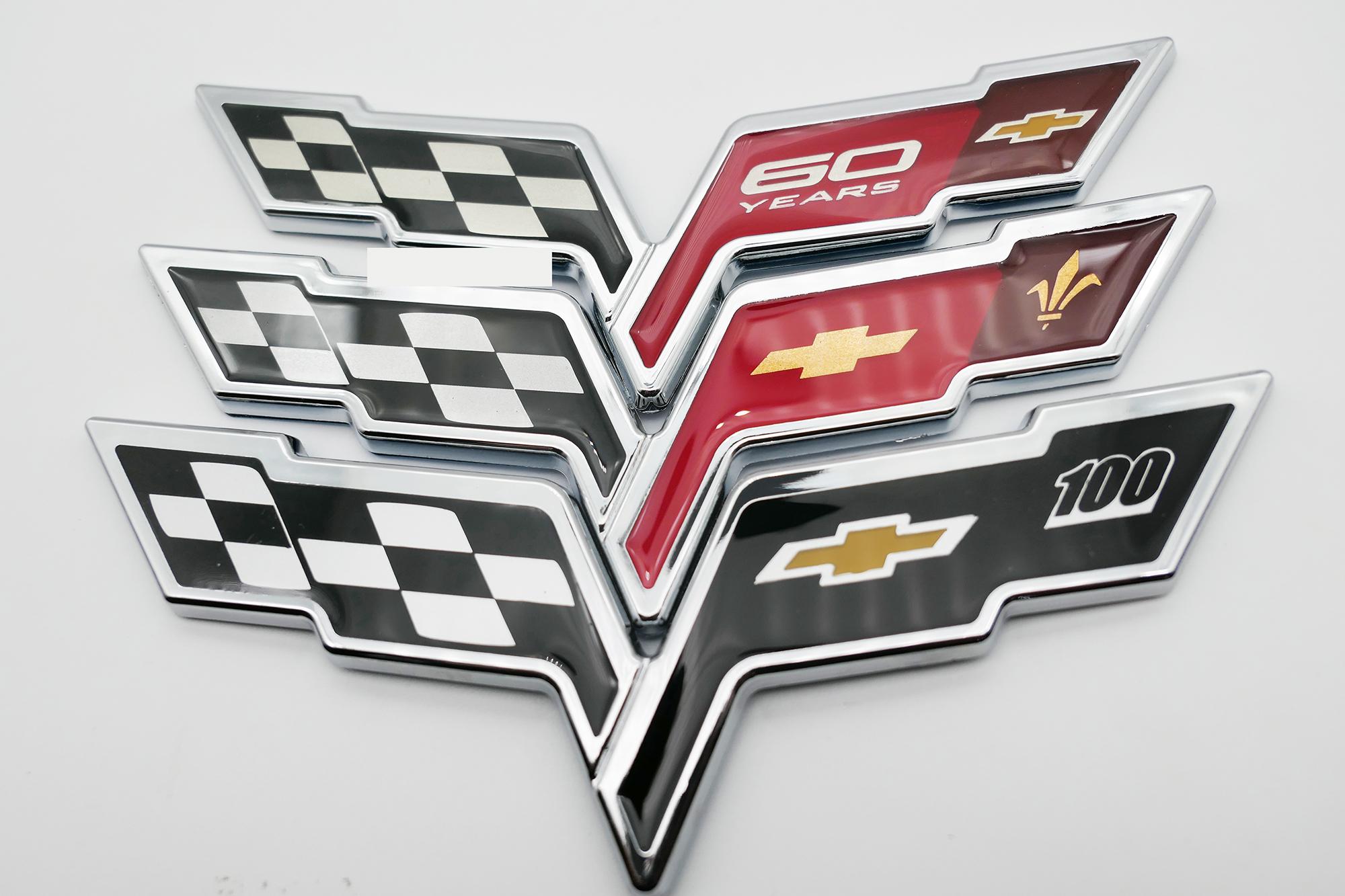 Chevy Camaro Silverado Corvette Flag LSX Body Fender Rear Emblem Badge Sticker