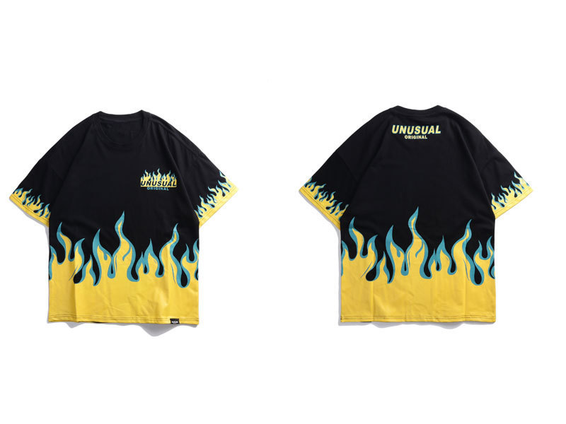 Fire Flame Printed Tshirts 1
