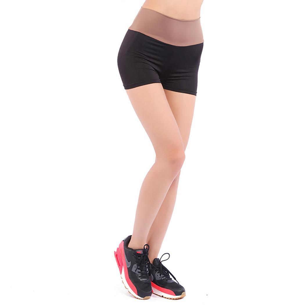 Женщины Повседневные Лоскутные Штаны Безопасности Stretch Sport Yoga Шорты Нижнее Белье Мода Женские Штаны Безопасности