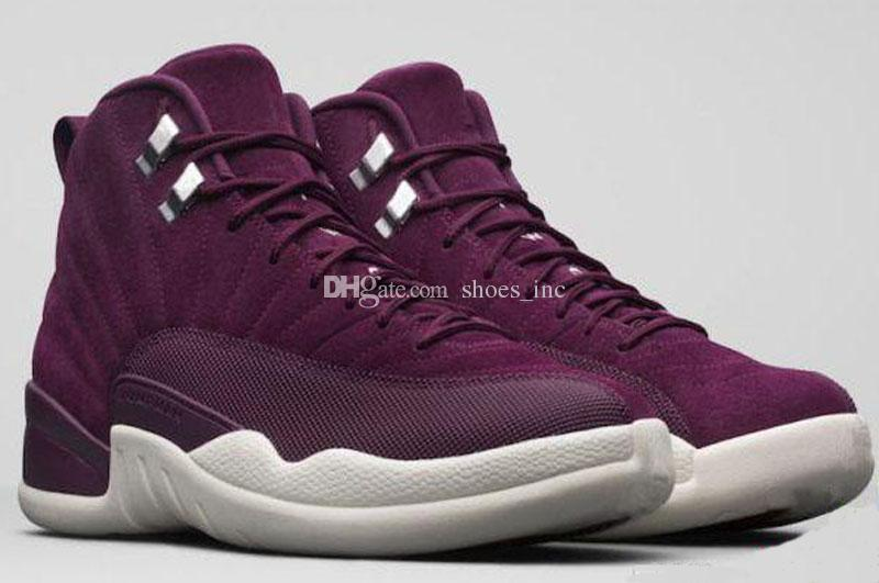 12 Qualité Haute Bordeaux Hommes Chaussures De Basket-Ball Public School PSNY x 12s Vin Rouge Pourpre Blanc Baskets Avec Des Chaussures Boîte