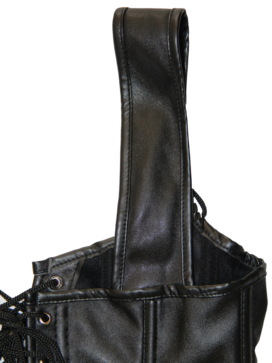Women Corset Women Gothic Steampunk Corsets and Bustiers Corselet Leather Zipper Solid Strappy Corset for Shows Party Club Costume Tops
