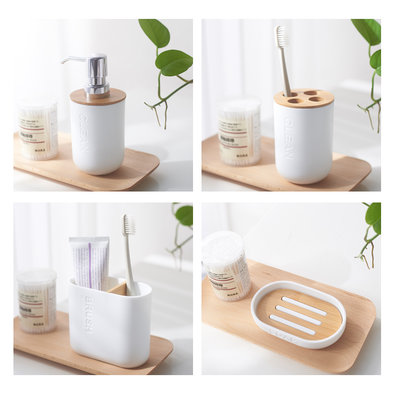 3-Bamboo-Soap-Dish-Soap-Dispenser-Toothbrush-Holder-Soap-Holder-Bathroom-Accessories