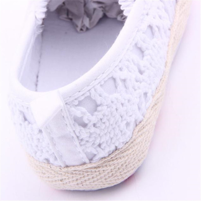 Baby Girls Shoes Toddler Kids Baby Girl Solid Flower Soft Sole Anti-slip Shoes Baby Girls First Walker Shoes M8Y11 #F (5)