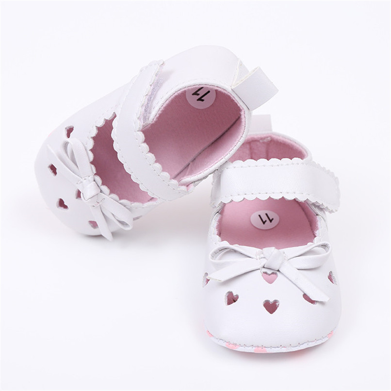 FashionNewborn Infant Baby Girls Crib Shoes Soft Sole Anti-slip Sneakers Bowknot Shoes NDA84L16 (14)