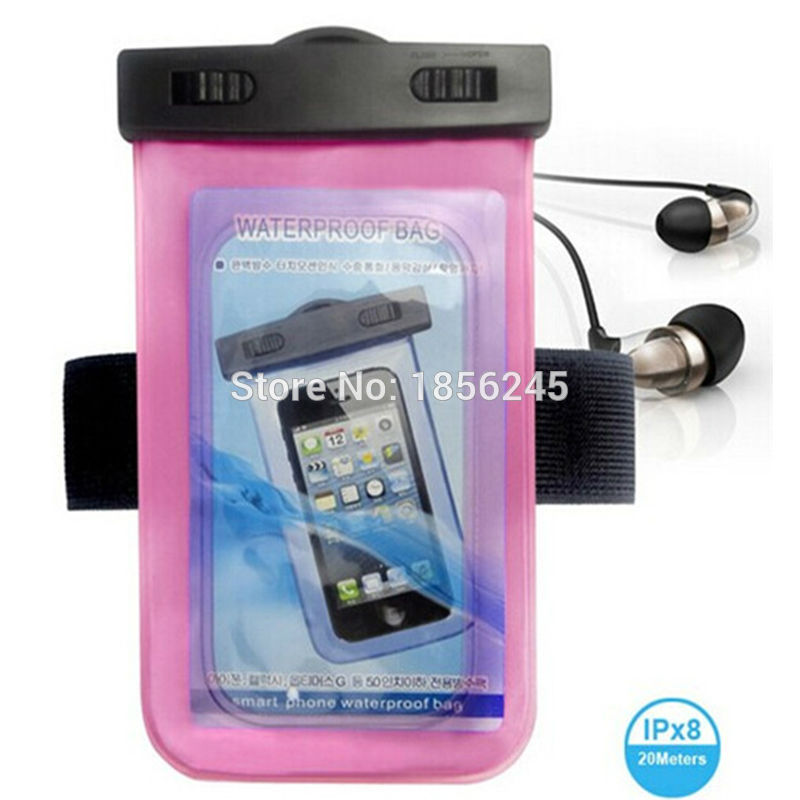 Universal Swimming Case Waterproof phone pouch With Watertight Earphone Drawstring Bags Against Water Jack for Up To 5 Inch2
