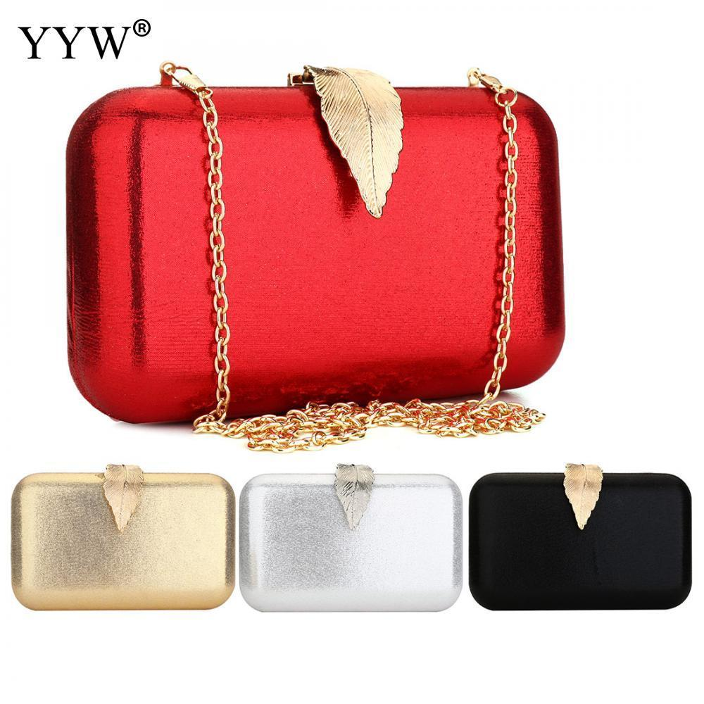 Zinc Alloy Clutch Bag Christmas Evening Bags For Women Sequined Chain Shoulder Bag Female Party Wedding Clutches Purse Red Gold Y190619