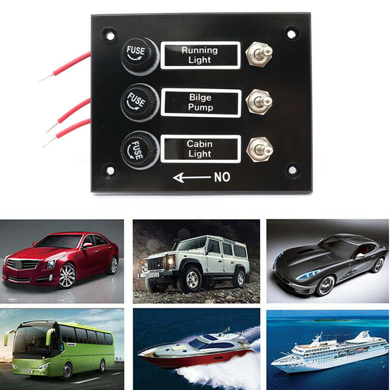 green KIMISS ABS 6 Gang Waterproof ON-OFF Toggle Switch Panel Dual USB Socket Charger LED Voltmeter 12V 24V Power Outlet for Car Boat Marine RV Truck Camper Vehicles