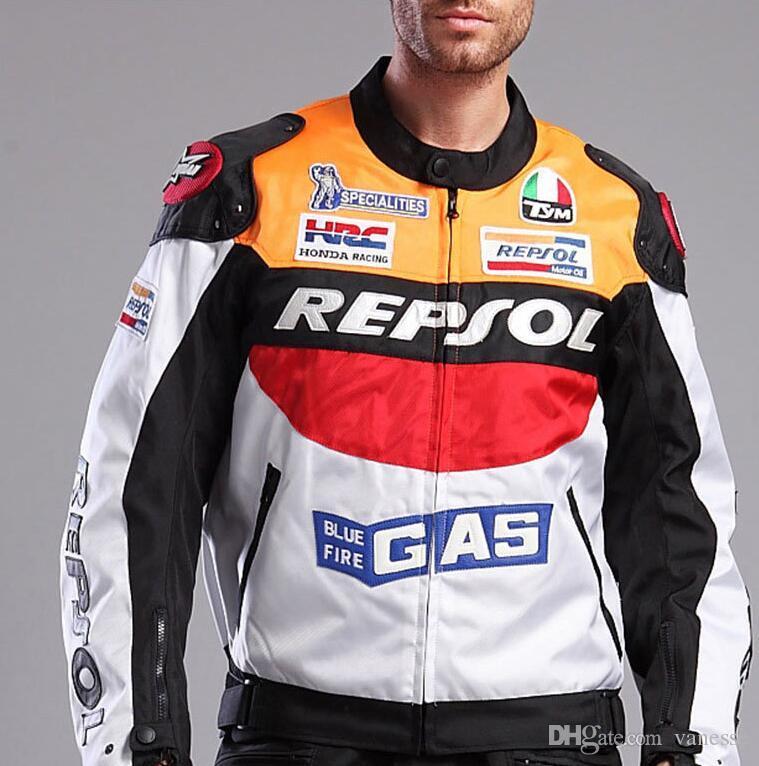 Repsol-Honda Motorbike Racing Gants en Cuir pour Motard Taille L