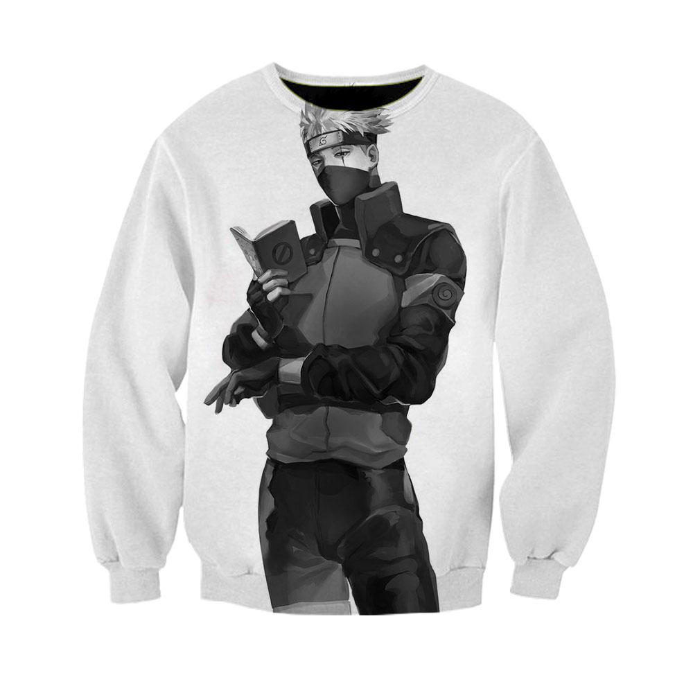 Qing Fan Mens Autumn Winter 3D Print Long Sleeve Hooded Sweatershirt Top Blouse
