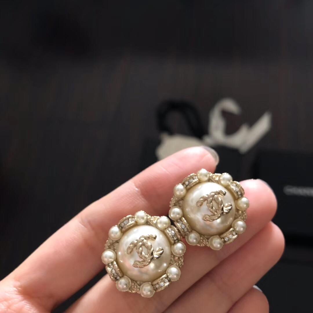 De Buman 18k plaqué or rose de nacre /& Cristal Femmes Dangle Boucles d/'oreilles
