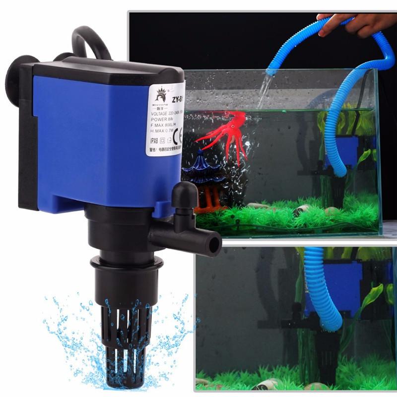 1x 8W 15W 20W 25W 35W 3-in-1 Wave Maker Purifier Filter Oxygen Water Pump Aquarium Fish Tank Powerhead forAquarium Fish Tank2