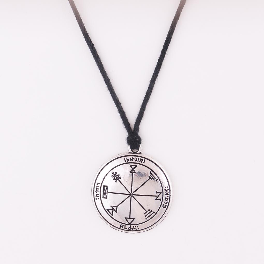 Mythologie Nordique Rune Amulette Collier Vintage Pirate Noeud Pendentif