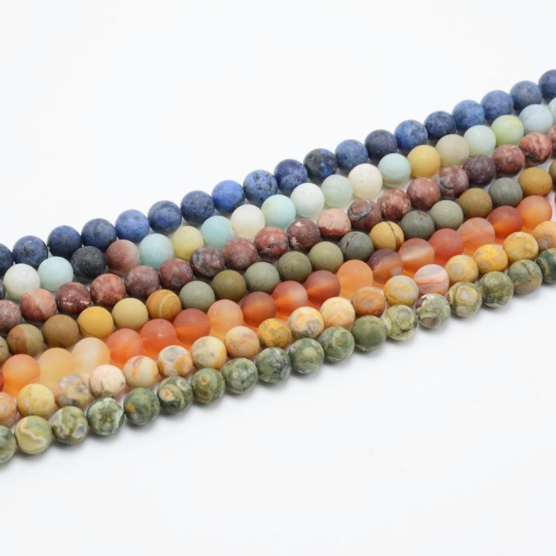 """4 mm à facettes rouge peau de léopard JASPER perles rondes 15/"""" Strand Pour Bracelet À faire soi-même"""