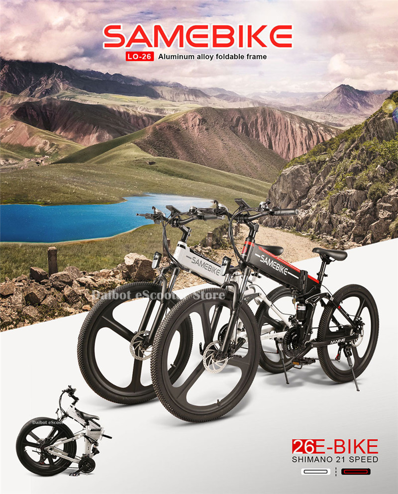 Powerful Electric Bicycle 2 Wheels Electric Bicycles 21 Speed 35KMH 48V 350W Folding Electric Scooter With Removable Battery (26)