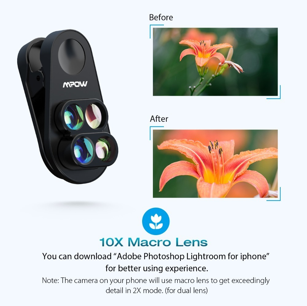 Mpow PA105 Phone Lens for iphone (5)