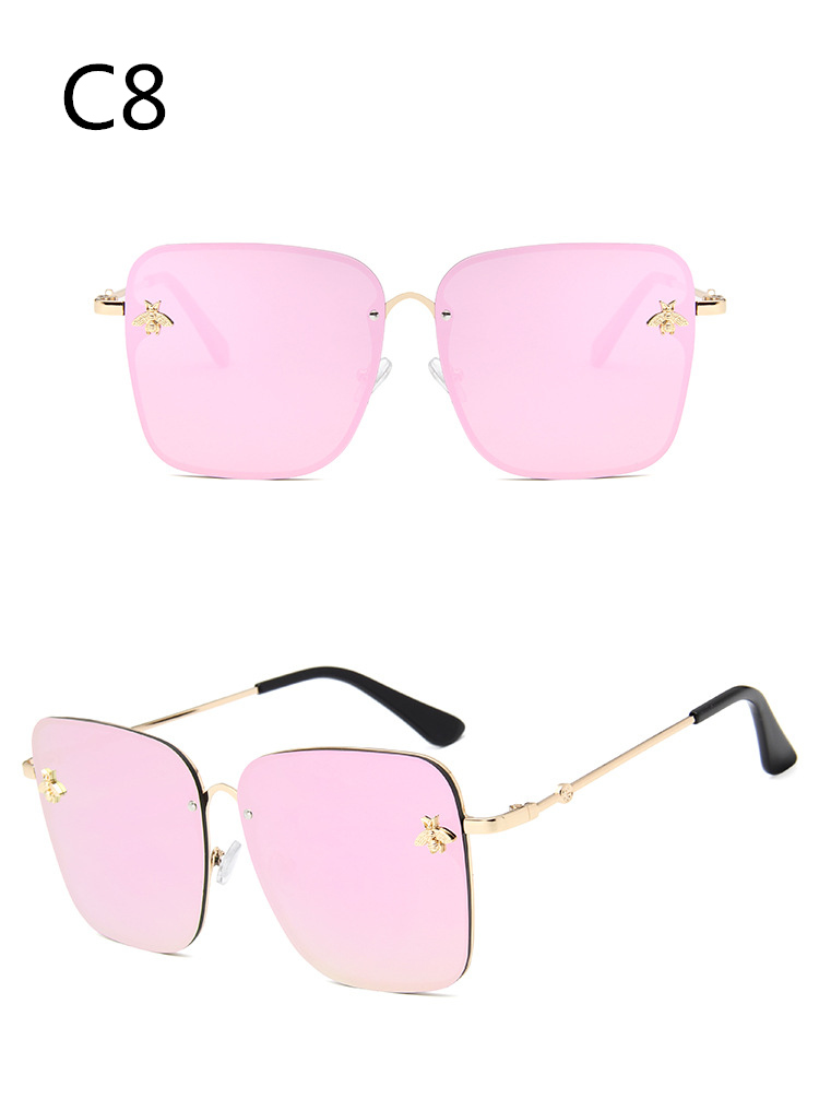ASOUZ 2019 new box ladies sunglasses UV400 metal large frame small bee sunglasses classic brand design sports driving sunglasses (9)