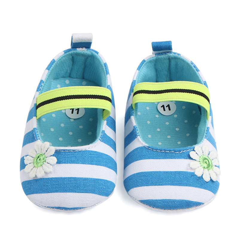 Summer Boys Girls Shoes Infant Kids Girls Baby Stripe Flower Shoes Soft Sole Anti-Slip Shoes First Walker NDA84L25 (22)