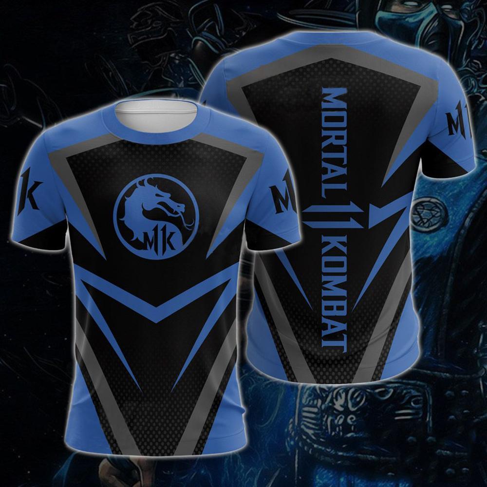 Mortal Kombat T-shirt Dragon Sub Zero Scorpion Cool Printed Gift Graphic Tee T