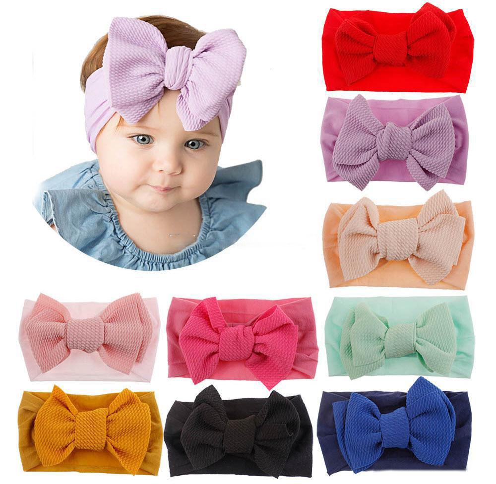 Acessórios Para O Cabelo Bebê Turbante Faixa De Cabelo De Milho Bebê Menina Soft Kids Arco Tiara