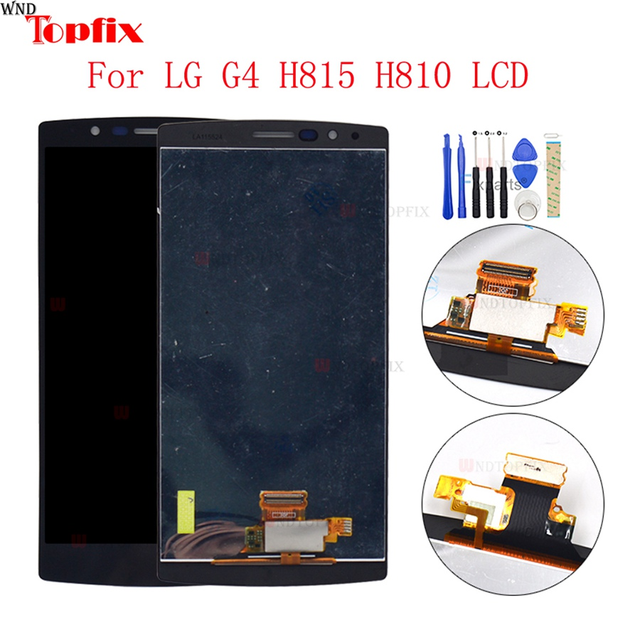 100% Tested 5.5inch LCD For LG G4 H815 H812 LCD Display Touch Screen Digitizer Assembly With Frame Pantalla Replacement Parts (4)