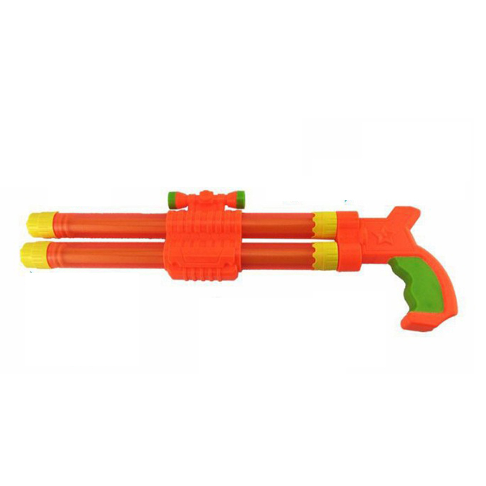 40CM Kids Beach Double-barrelled Water Squirt Toy Super Soaker Tube Blaster Pump Squirter for Beach Swimming Pool Party