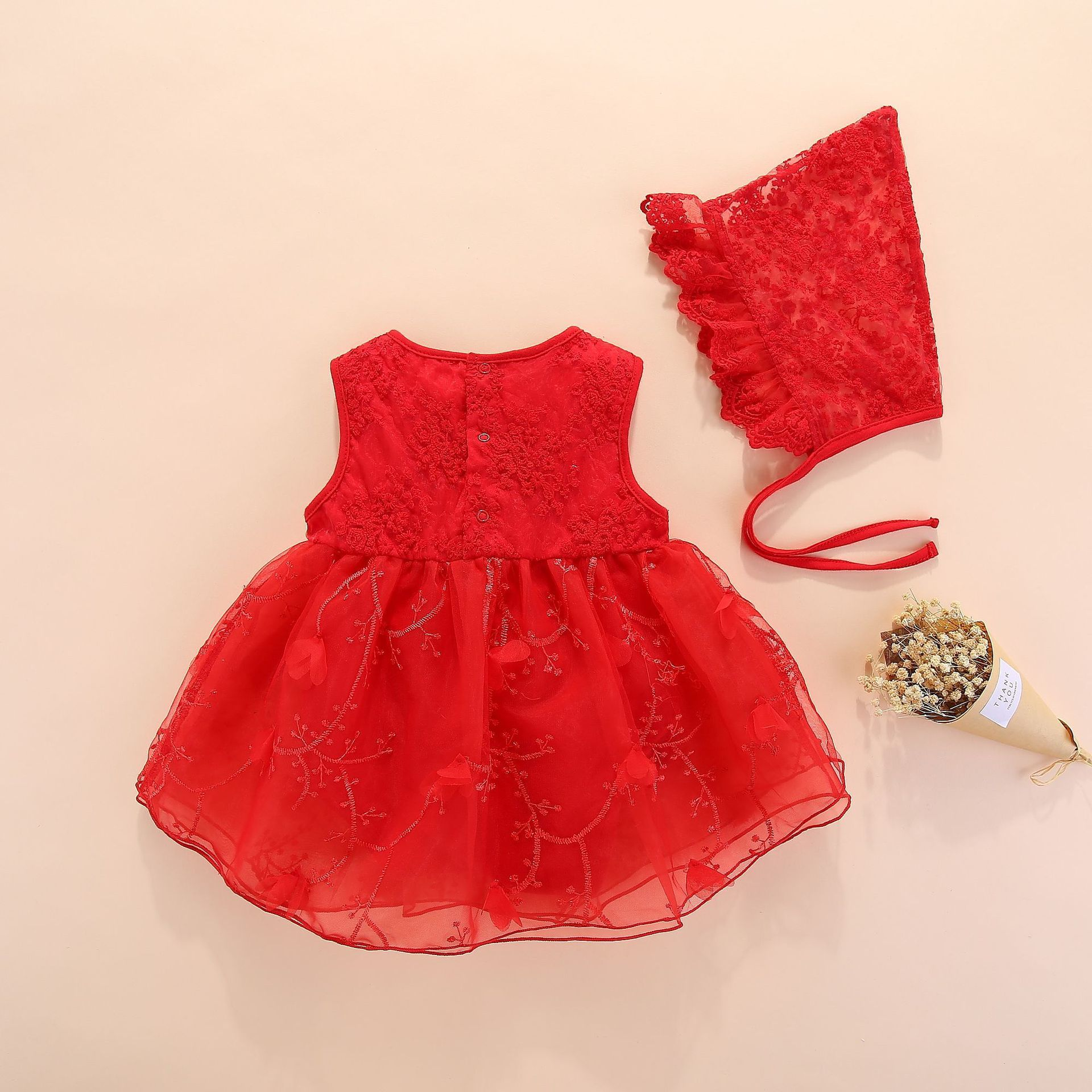 Newborn Baby Girl Dresses Clothes Summer With Flower 0 3 6 Month Baby Girl Dress For Party And Wedding Princess Style Clothes Y19061101