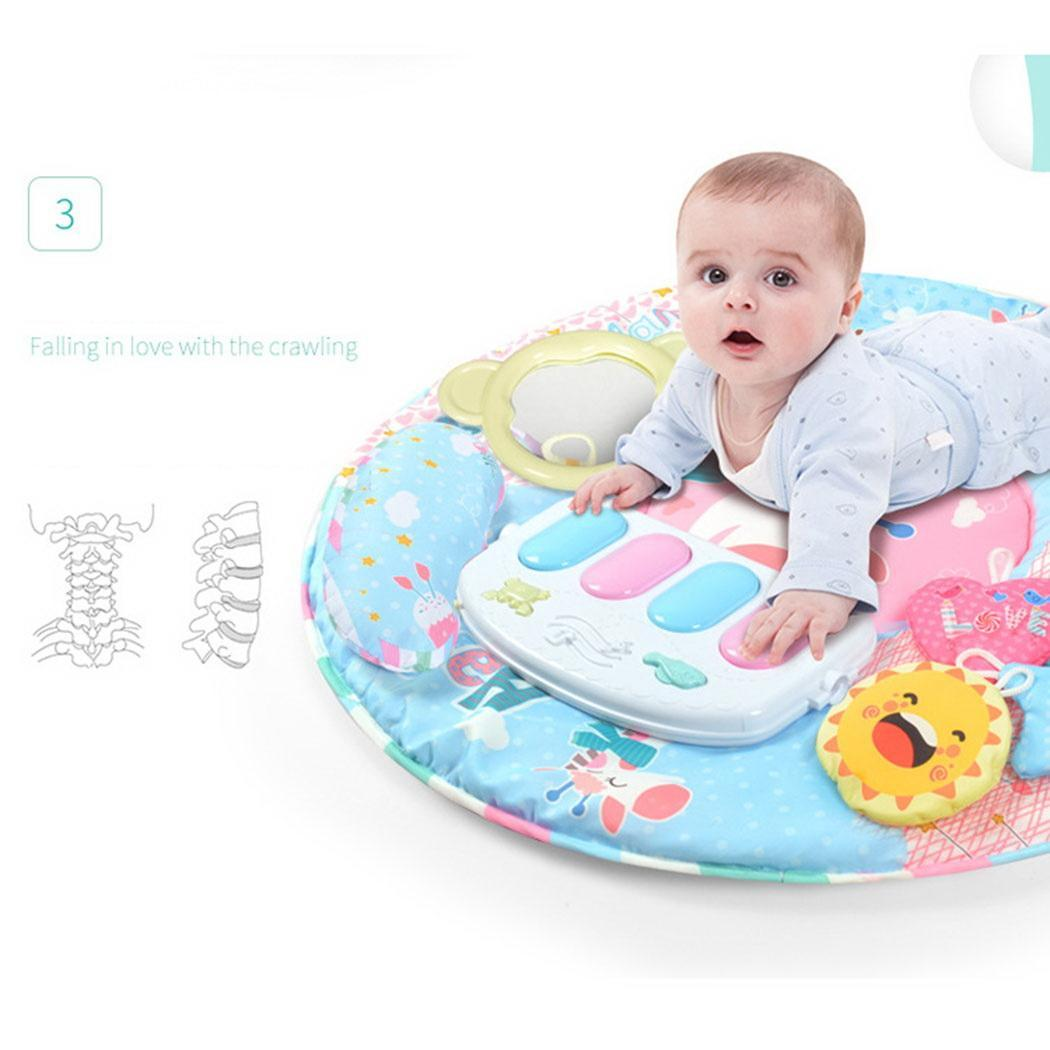 Fashion New Unisex Baby With Light Musical Fitness Rack Play Mat Educational Toys New Fashion Baby Fitness Play Mat