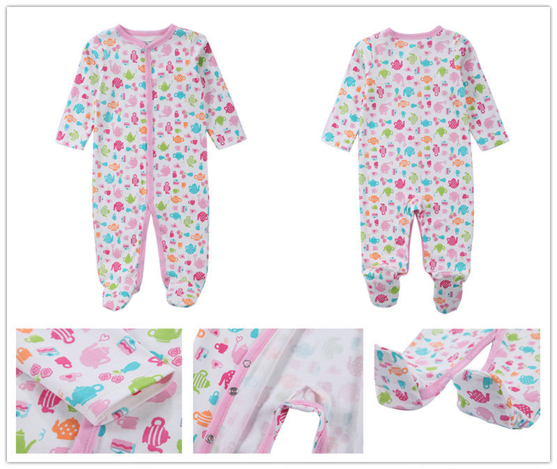 3-Pack-Newborn-baby-girls-boys-clothes-Babies-Footie-Long-sleeve-100-cotton-printing-Infant-Clothes (2)