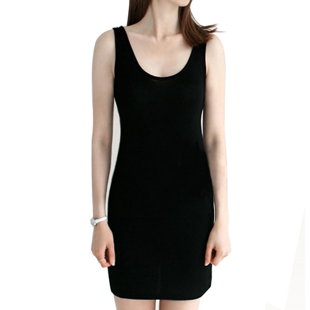 New Fashion Women 's Vintage Bodycon sin mangas Casual Camiseta sin mangas con cuello alto Mini vestido es Nuevo vestido Bodycon
