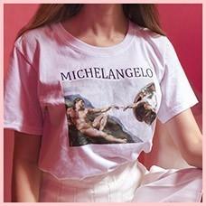 Michelangelo-Cappella-Sistina-Tshirt-Harajuku-Ulzzang-Tumblr-Tee-Women-T-shirt-Kawaii-Tshirt-Femme-Womens-T