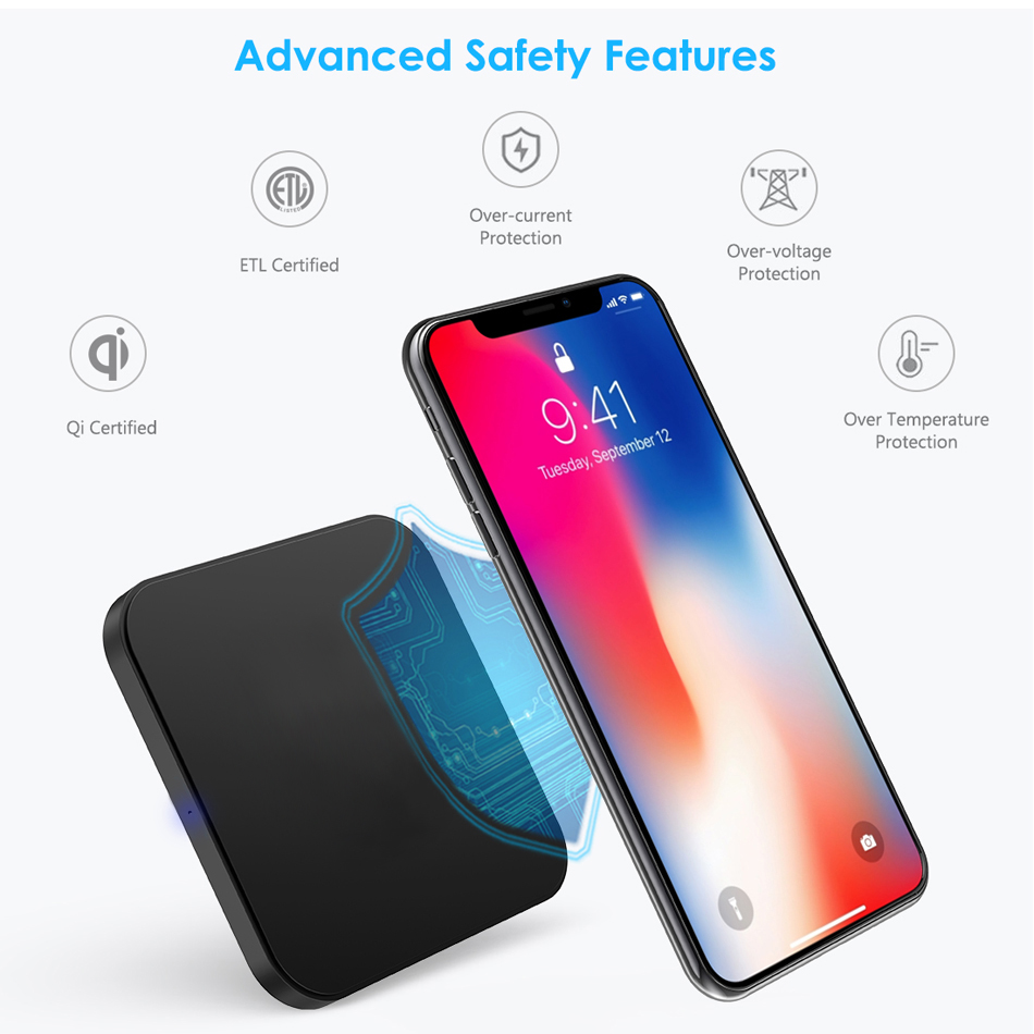 Wireless Charger For Xiaomi Mi A2 Lite Redmi 6 Pro QI Charging Pad Wireless Chargers Case Receiver MiA2 Mobile Phone Accessory (1)