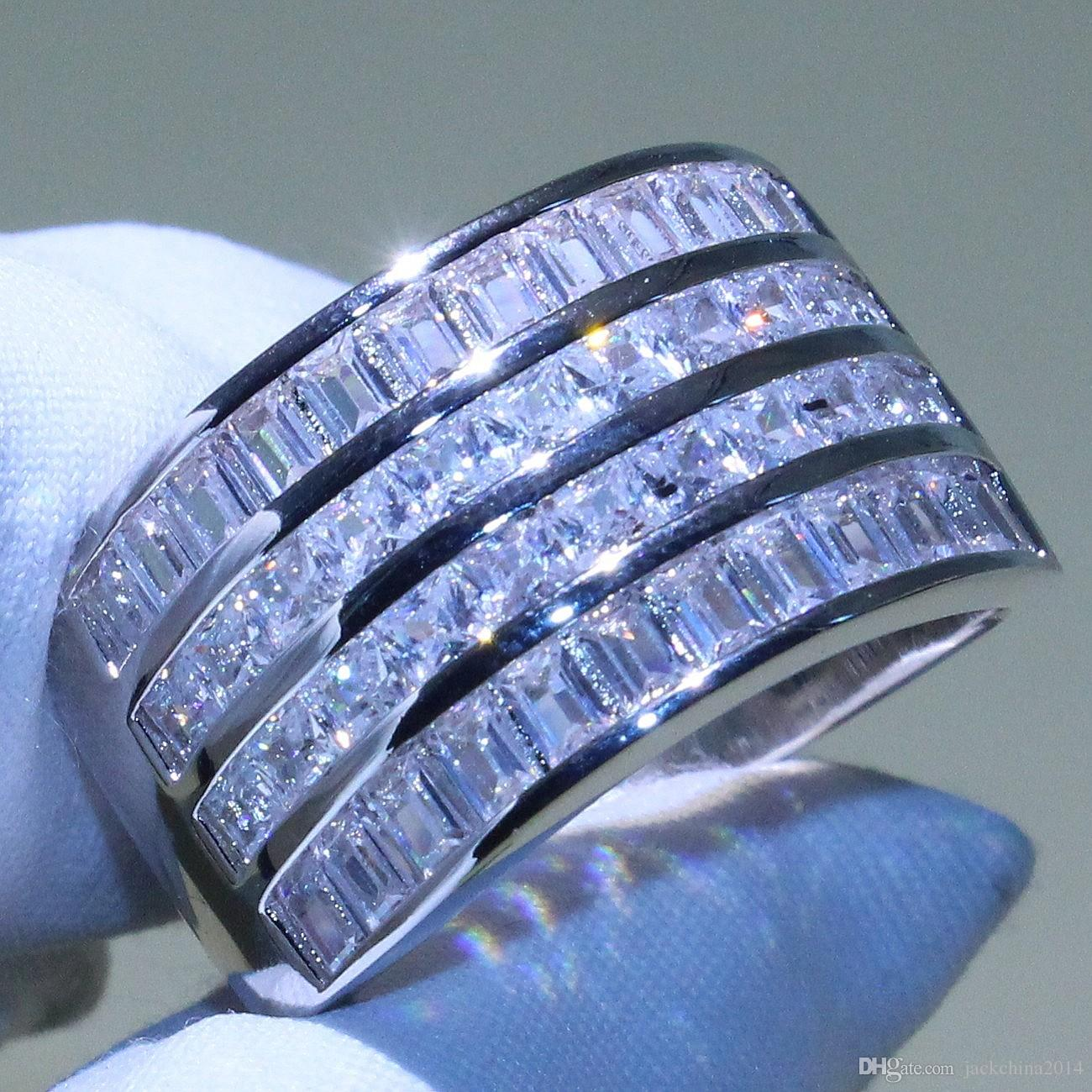 It is a photo of Wholesale Wide Diamond Wedding Bands - Buy Cheap in Bulk from