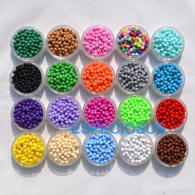 100 pieces 3D Illusion Acrylique Miracle Perles Rondes 8 mm Spacer choisissez votre couleur