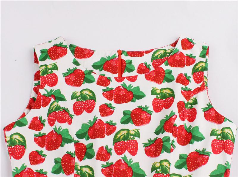Kostlish 9 Style Print Summer Dress Women 2017 Sleeveless Swing 1950s Hepburn Vintage Tunic Dress Elegant Party Dresses Sundress (45)