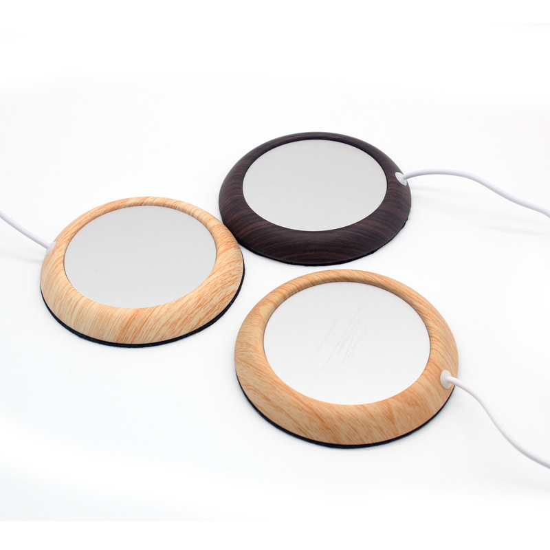 Оригинальный USB древесины зерна Кубок теплее USB нагреватель напиток кружка мат держать напиток теплый нагреватель кружки каботажное судно теплее мат