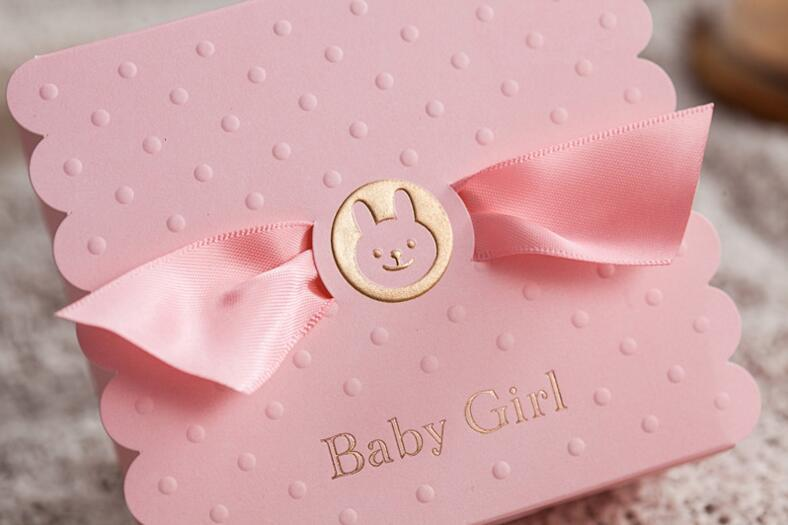 European Baby Boy Girl Party Angel Candy Boxes Baby Shower Favors Baby Birthday Party Sweet Box Chocolate Bag Box 6