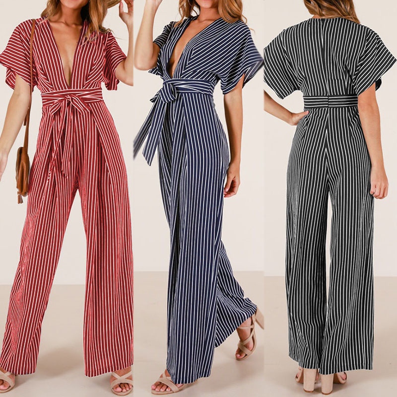 Toddler Little Girl Basic Striped Strappy Crop Top High Wasit Wide Leg Pant Romper Jumpsuit Set