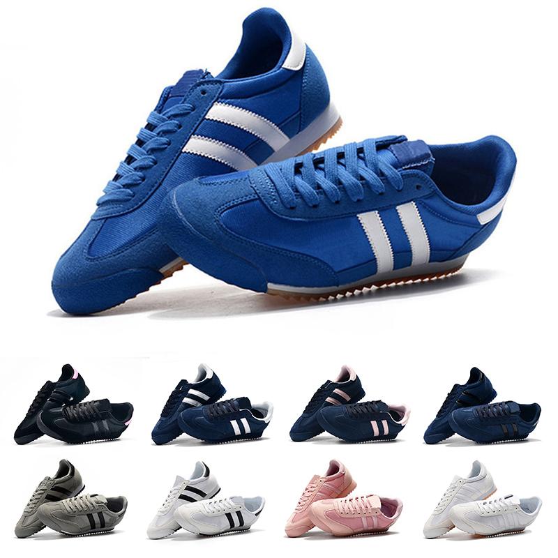 Klassische 2018 Originals Dragon Running Schuhe blau rot schwarz Streifen Mens Womens Superstar 80er Jahre Pride Sneakers Größe 36 45